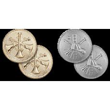Round Plain Collar Insignia - Scrambles and Bugles