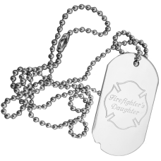 Firefighter Family Engraved Dog Tag