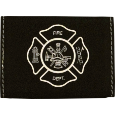 Firefighter Leatherette Business Card Holder