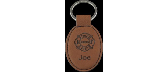 Custom Leatherette Keychain
