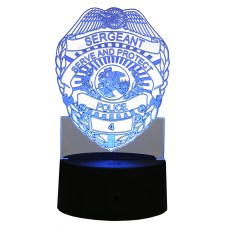 Light Up Acrylic Police Badge