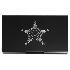 Police Metal Business Card Holder