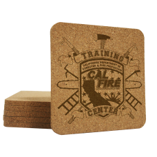 Custom Logo Square Cork Coasters