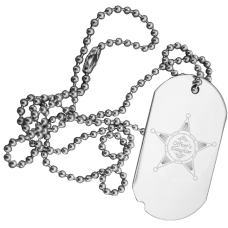 Police Family Engraved Dog Tag