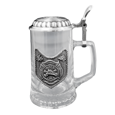 Firefighter Award Lidded Stein