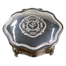 Firefighter Princess Jewelry Box