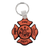 Leather Firefighter Keychain