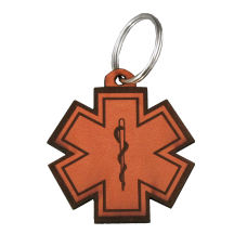 EMS Leather Keychain