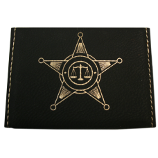 Police Leatherette Business Card Holder