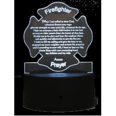 Light Up Acrylic Firefighter Prayer