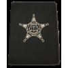 Police Zippered Leatherette Padfolio