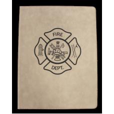 Firefighter Leatherette Padfolio