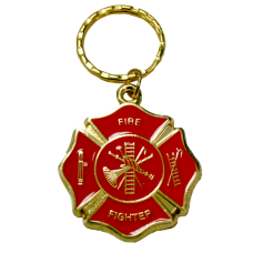 Red Maltese Firefighter Keychain