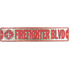 Firefighter Road Sign