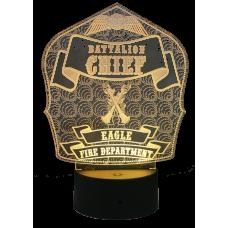 Light Up Firefighter Helmet Shield