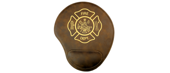 Fire Department Leatherette Mouse Pad