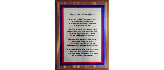 Firefighter Prayer Plaque