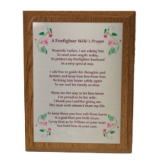 Firefighter Wife Prayer Plaque