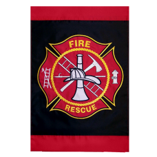 Firefighter Maltese Garden Flag