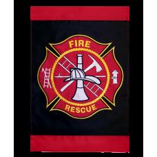 Maltese Cross Firefighter Garden Flag