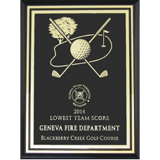 Black Gloss Plaque with Golf Plate