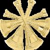 4 Bugle Cutout Texture Hat Badge