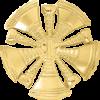 5 Bugle Cutout Texture Hat Badge