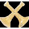 2 Crossed Bugle Cutout Texture Hat Badge