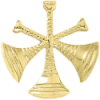 3 Bugle Cutout Texture Hat Badge