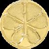 3 Bugle Circle Hat Badge