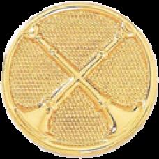 2 Crossed Bugle Circle Hat Badge