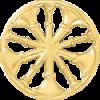 5 Bugle Circle Cutout Hat Badge