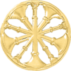5 Bugle Circle Cutout