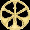 3 Bugle Circle Cutout Hat Badge