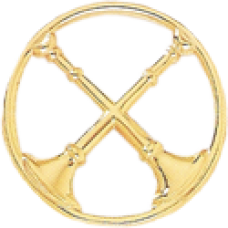 2 Crossed Bugle Circle Cutout