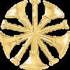 5 Bugle Cutout Hat Badge