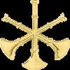 3 Bugle Cutout Hat Badge