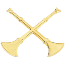 2 Crossed Bugle Cutout