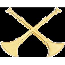 2 Crossed Bugle Cutout