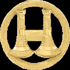 2 Standing Bugle Circle Cutout Texture