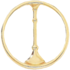 1 Bugle Circle Cutout