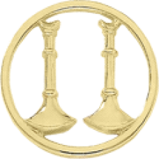 2 Standing Bugle Circle Cutout