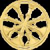 4 Bugle Circle Cutout Hat Badge
