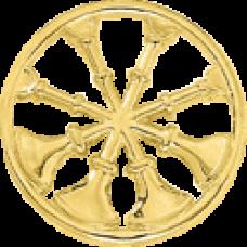 4 Bugle Circle Cutout
