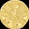 4 Bugle Circle Hat Badge