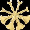 4 Bugle Cutout Hat Badge