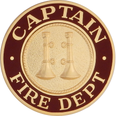 Fire Department Hat Badge