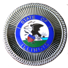 State Seal Hat Badge