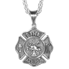 Fire Department Large Necklace