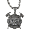 Firefighter Necklace with Axes